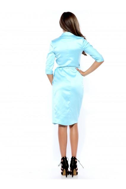 Rochie bleu Roserry petrecuta din tafta