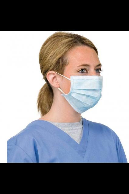 Set 10 bucati, Masca chirurgicala, Soft care, 3 straturi, Albastru