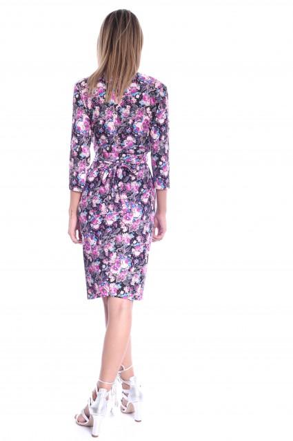 Rochie cu imprimeu floral Roserry petrecuta stil capot